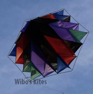 Facet Snowflake Black-Red-Purple-Green-Blue