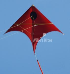 Manta Red - Black dot
