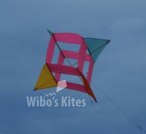 Winged Box kite Pink